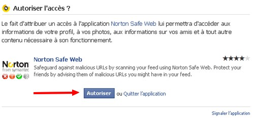 autoriser norton safe web