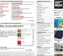 nouveau design textuel
