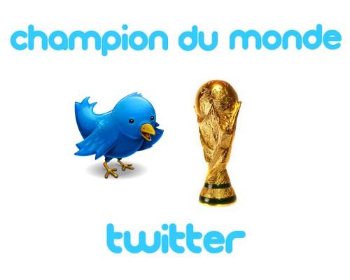 champion du monde twitter