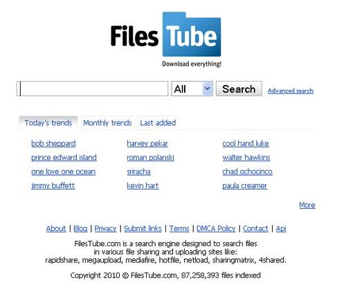 filestube RapidShare : 10 sites pour trouver vos liens de téléchargement