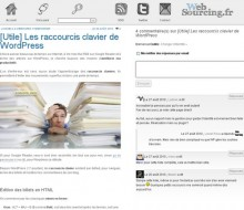 raccourcis wordpress