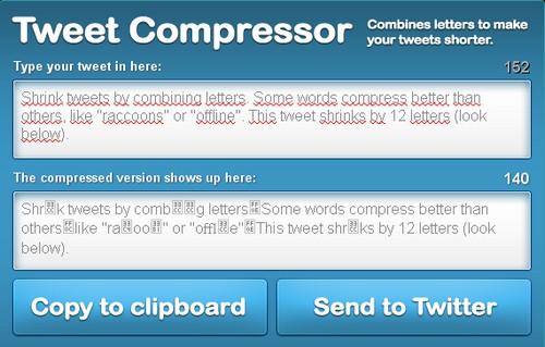 tweet compressor