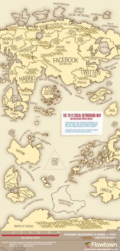 carte reseaux sociaux