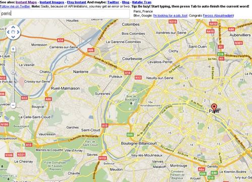 google maps instant