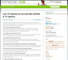 raisons succes articles