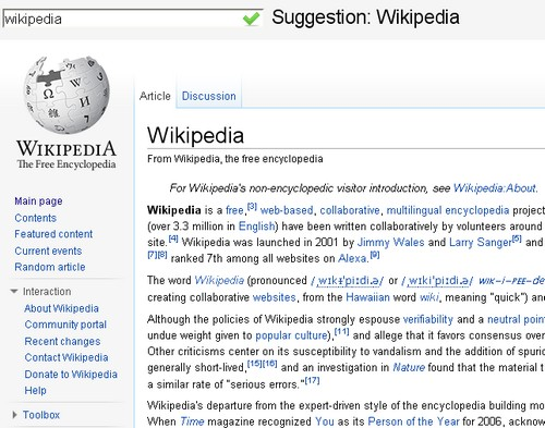 wikipedia instant