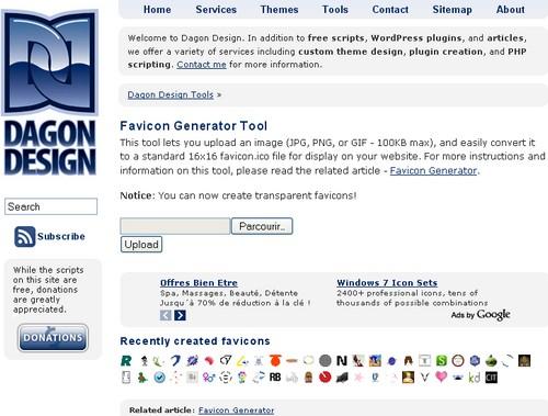 Favicon Generator Tool