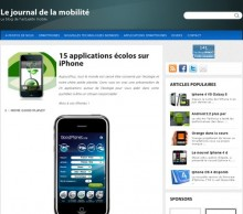 applications ecolos iphone