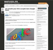 conseils google news