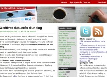 critere succes blog