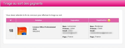 tirage licence office pro