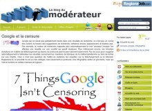 google censure