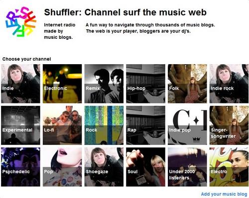 shuffler 20 sites pour écouter de la musique gratuite en ligne