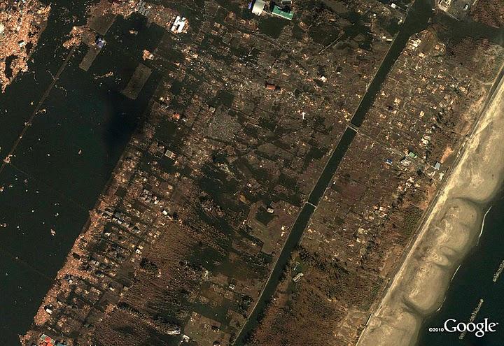 Pourrinetia - Japon : Derrière le rideau de fleurs médiatique Sendai-Arahama-apres