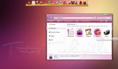 Vista pink pastel Theme Win7