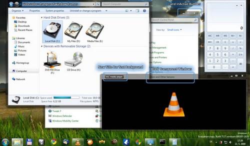 Windows7 Black Transparent