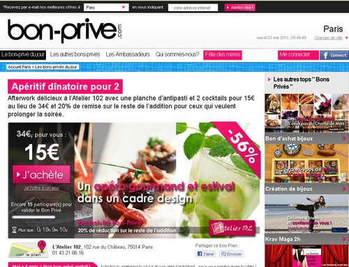 bon prive 14 sites comme Groupon