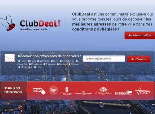 club deal 14 sites comme Groupon