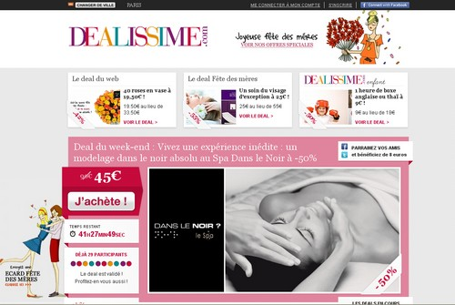 dealissime 14 sites comme Groupon