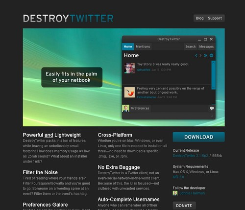 destroytwitter Les 40 meilleures applications Twitter