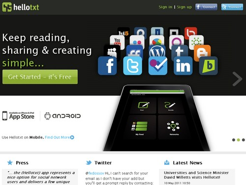 hellotxt Les 40 meilleures applications Twitter