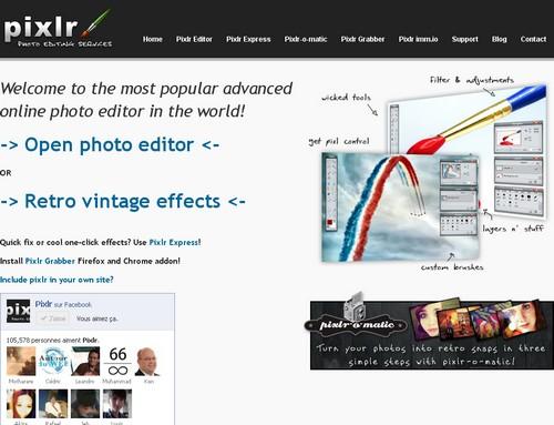 pixlr Les 5 meilleurs sites gratuits de retouches photos