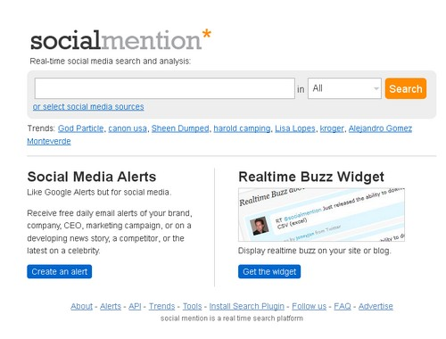 socialmention Les 40 meilleures applications Twitter