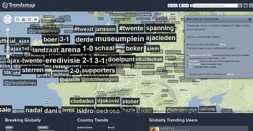 trendsmap Les 40 meilleures applications Twitter