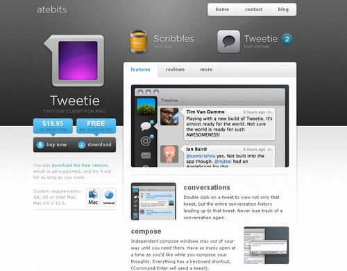tweetie Les 40 meilleures applications Twitter