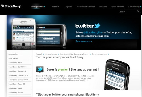 twitter blackberry Les 40 meilleures applications Twitter