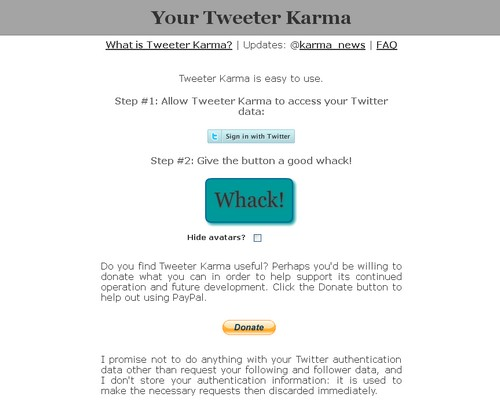 twitter karma Les 40 meilleures applications Twitter
