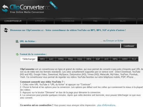 clipconverter 5 sites pour télécharger sur YouTube