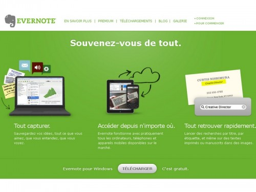 evernote 500x375 5 alternatives gratuites à Evernote