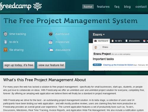 freedcamp 10 sites pour gérer un projet en ligne