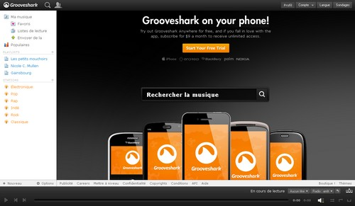 grooveshark 10 alternatives gratuites à Deezer