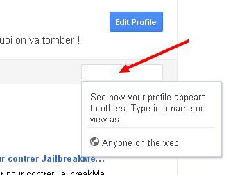 profil appears