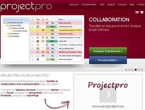 projetpro 10 sites pour gérer un projet en ligne
