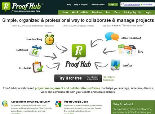 proofhub 10 sites pour gérer un projet en ligne