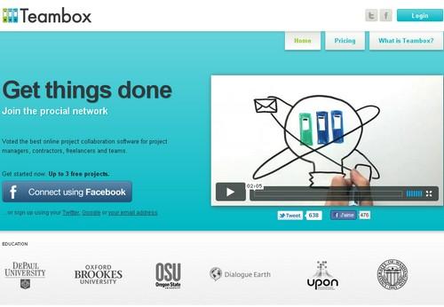 teambox 10 sites pour gérer un projet en ligne
