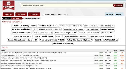 fenopy 10 moteurs de recherche de Torrent