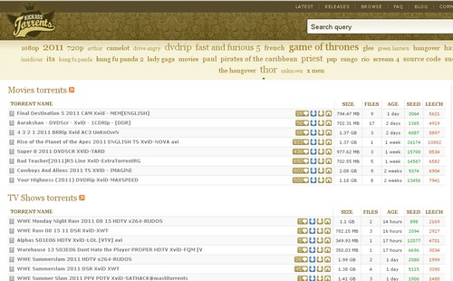 kickass torrents 10 moteurs de recherche de Torrent