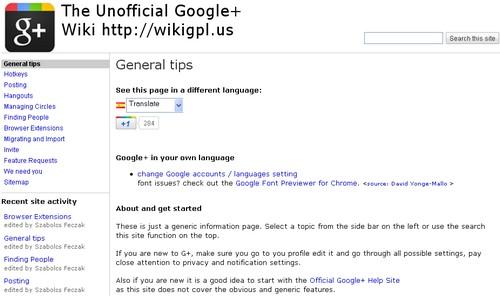 unofficial wiki google+
