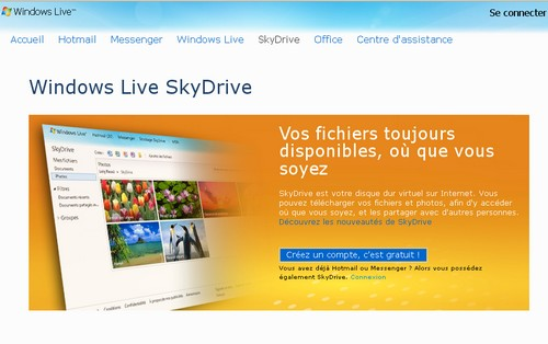 windows live skydrive