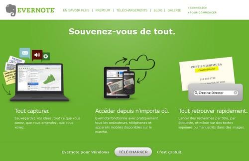 evernote 10 outils pour enregistrer des notes en ligne