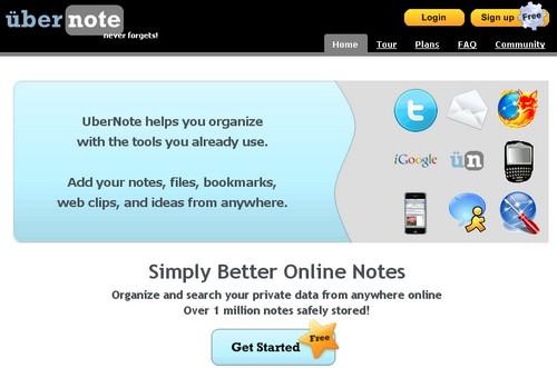 ubernote 10 outils pour enregistrer des notes en ligne