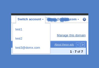 account switcher for gmail