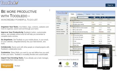 toodledo 20 outils pour gérer vos tâches et devenir productif (Todo List)