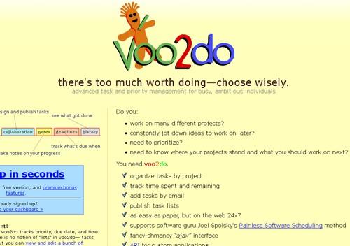 voo2do 20 outils pour gérer vos tâches et devenir productif (Todo List)