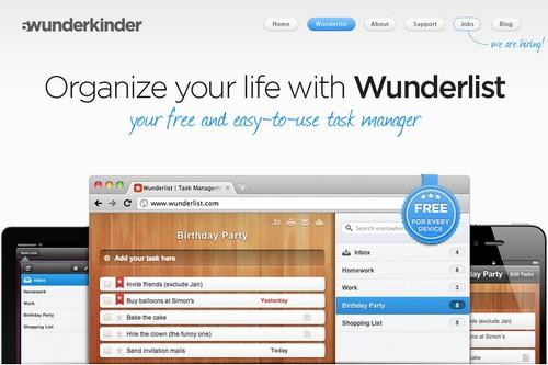 wunderlist 20 outils pour gérer vos tâches et devenir productif (Todo List)
