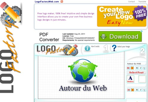 photo creer un logo gratuit sans telechargement